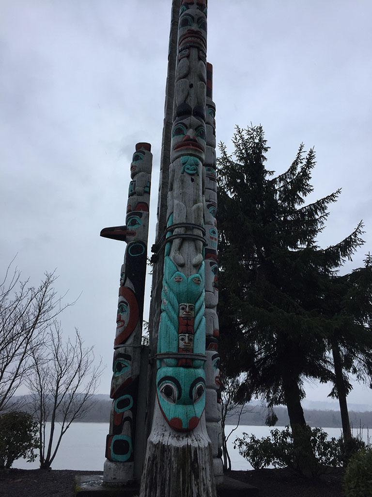 Kalama Totem Poles