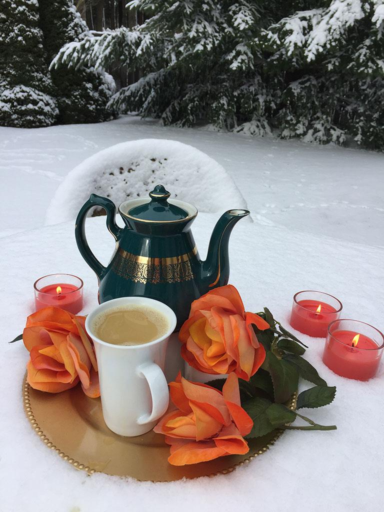 Snowy Tea Party