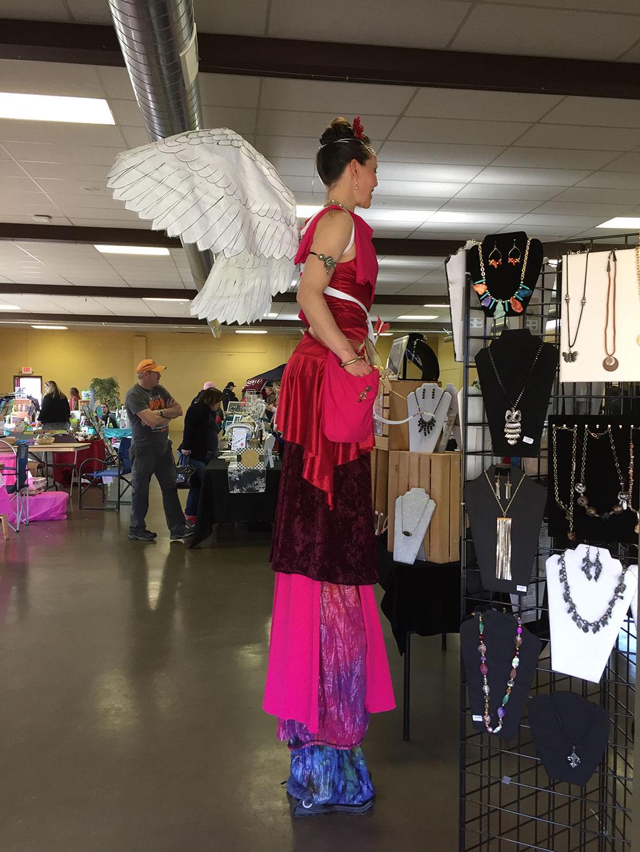 Tall Cupid at Farmers Market
