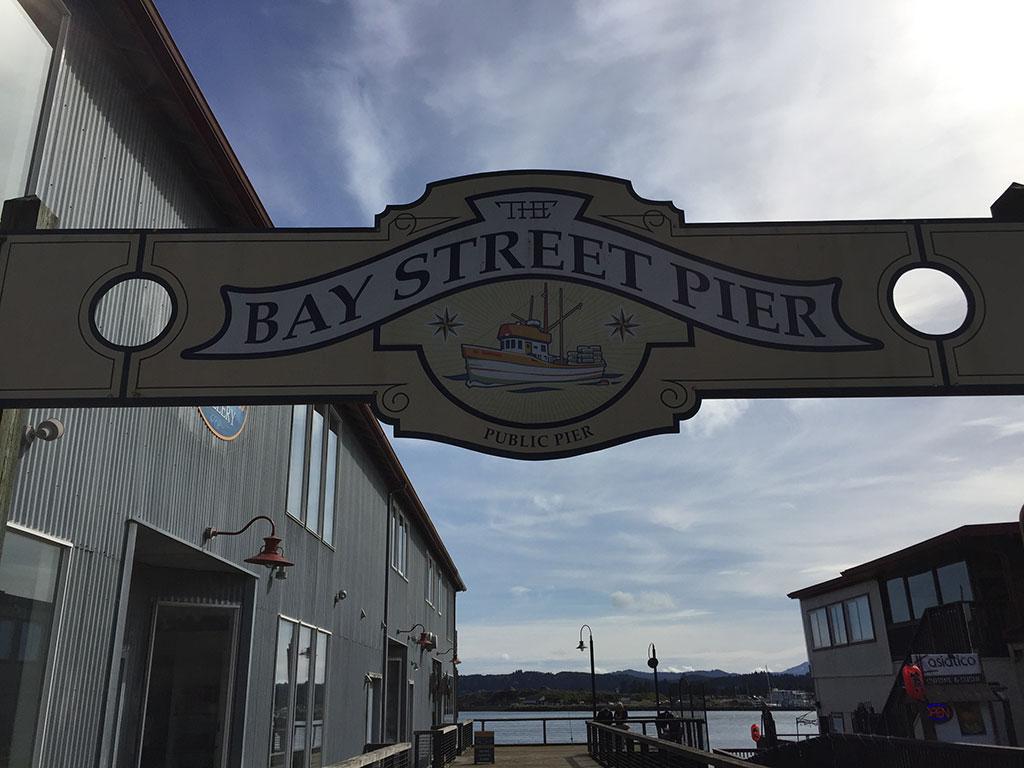 Bay Street Pier Sign