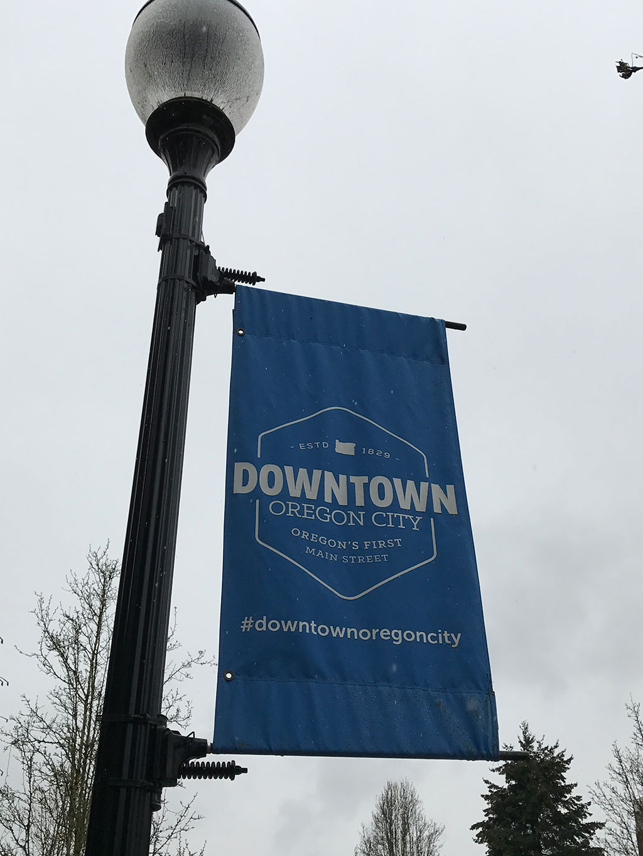 Oregon City Downtown Sign