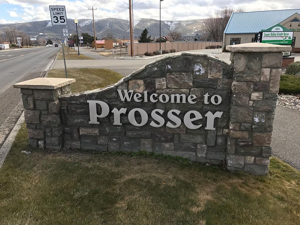 Prosser City Sign