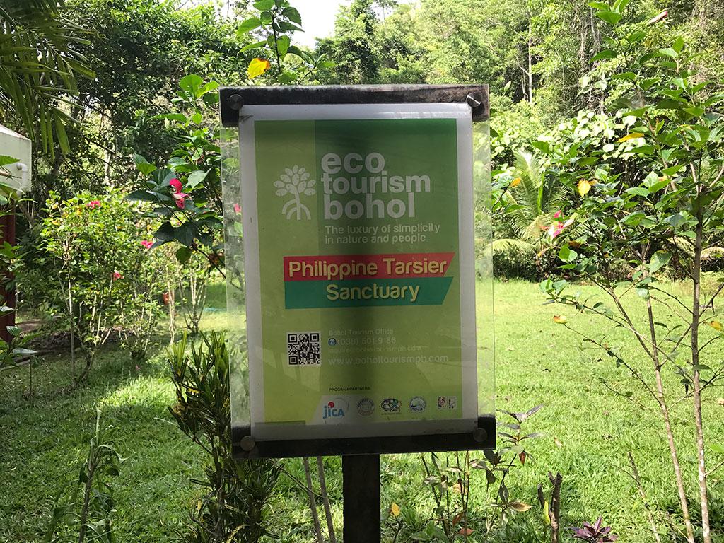 Bohol Eco Tourism Sign