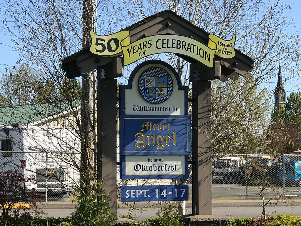 Mt. Angel City Sign