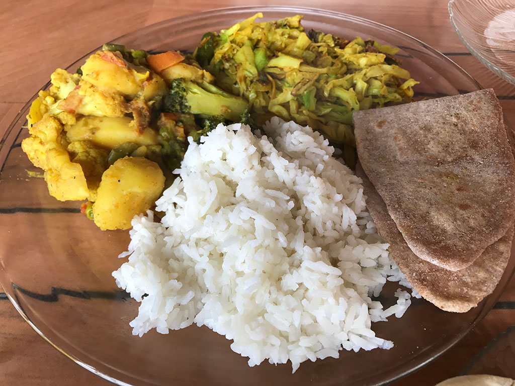 Nepali Food Plate - Dal Bhat
