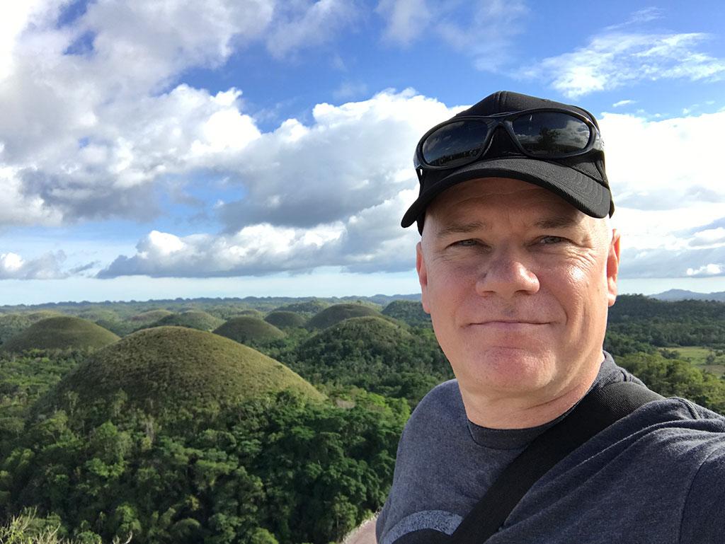 Papa At Chocolate Hills