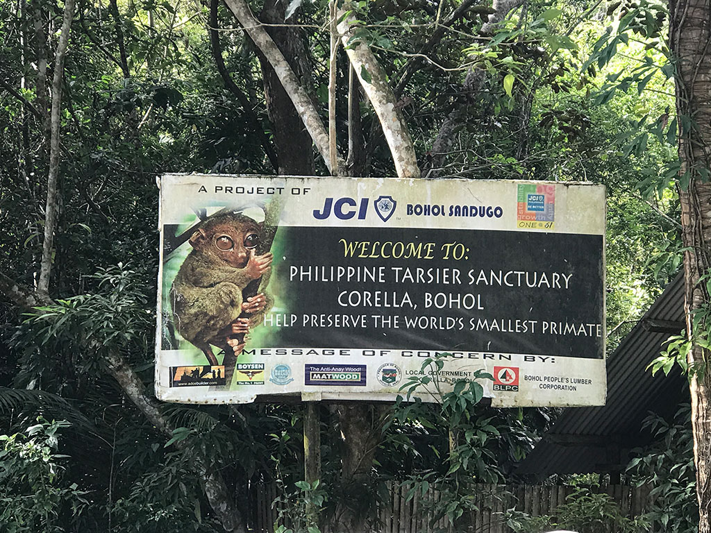 Tarsier Sanctuary Sign