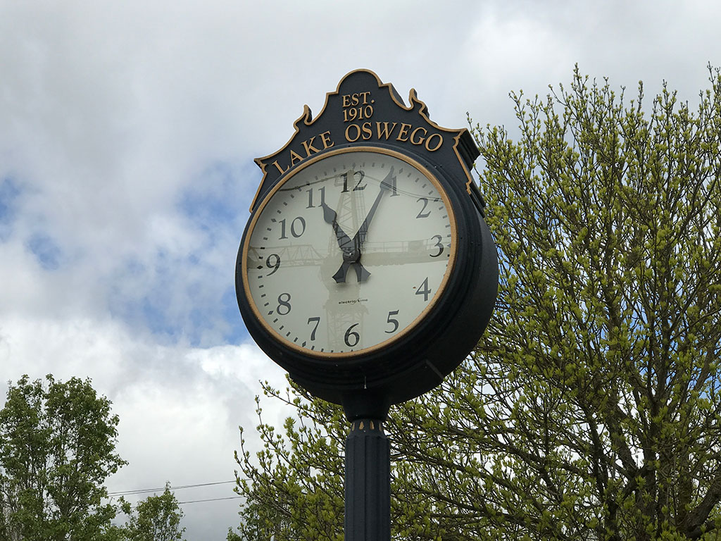 Lake Oswego Clock